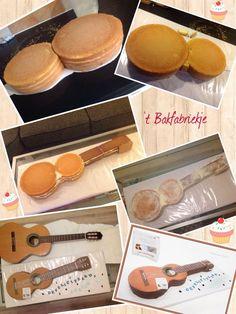 How to gitaar guitar - 't Bakfabriekje Cake for boyHow to gitaar guitar - Shared by Where YoUth Rise.guitar cake, gotta make this for Emmy!Resultado de imagen para how to make a guitar cake out of cupcakesNot the exact shape, definitely a good starti Cake Decorating Techniques, Cake Decorating Tutorials, Food Cakes, Fondant Cakes, Cupcake Cakes, Fondant Cake Tutorial, Fondant Baby, Fondant Figures, Bolo Musical