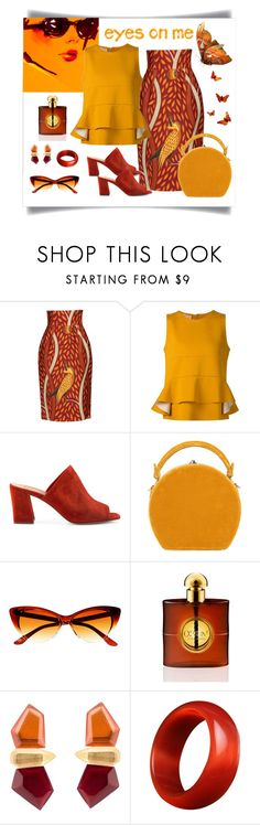 """""""Stella Jean Ethnic Print Skirt Look"""" by romaboots-1 ❤ liked on Polyvore featuring Stella Jean, Marni, Maryam Nassir Zadeh, Bertoni, Yves Saint Laurent and Monies"""