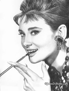 Pencil Portrait Mastery - Drawing Print of Audrey Hepburn Pencil Portrait by JohnDiBiaseArt, $12.00 Discover The Secrets Of Drawing Realistic Pencil Portraits