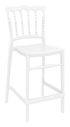 Stacking wedding bar stool h.65 cm for indoor and outdoor use in clear or shiny polycarbonate. Scratch resistant, UV - resistant.