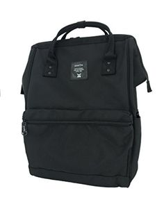 89bff08e5487 Amazon.com  Anello Limited Edition all Black Polyester Backpack (Large)   Clothing