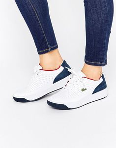 2ebe2a0908ec7 Lacoste Aceline Leather Trainers - Multi. Trainers by Lacoste