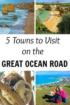 5 Towns to Visit Along the Great Ocean Road in Australia Don't just visit the Twelve Apostles when you drive along the Great Ocean Road. Here are 5 towns along the Great Ocean Road to visit! Visit Australia, Melbourne Australia, Australia Travel, Australia 2018, Oh The Places You'll Go, Places To Travel, Travel Destinations, Places To Visit, Travel Local