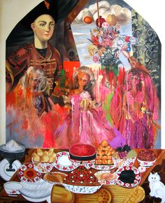 quarter series| oil on Canvas | 150×120 | 2012  |  pegah lari