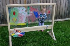 Whether it's a cloud's unique shape or the garden's many vibrant hues, nature provides an endless source of inspiration. Set up an art studio outdoors and help your mini Monets find their muse. Scroll down to find 11 genius ideas from a few creative paren Kids Outdoor Play, Outdoor Play Spaces, Backyard For Kids, Outdoor Fun, Kids Outdoor Crafts, Sloped Backyard, Backyard Ideas, Garden Ideas, Outdoor Wall Art