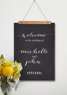 Large Printable Wedding Welcome To Our Wedding by WhiteWillowPaper