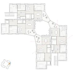 joud vergely beaudoin ~ LOGEMENTS COLLECTIFS, REICHENBACHSTRASSE 118 ~ berne Urban Village, Residential Complex, Apartment Layout, House Layouts, Beautiful Architecture, Arches, Typo, Habitats, Apartments