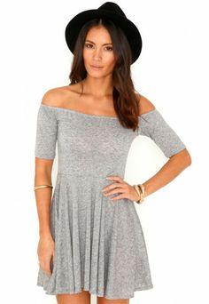 Mirabela Bardot Skater Dress - Dresses - Skater Dresses - Missguided