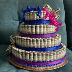 Birthday Money Cake   Etsy Money Birthday Cake, Money Cake, Happy 60th Birthday, Birthday Ideas, Money Necklace, Money Creation, How To Make Money, Handmade Gifts, Party