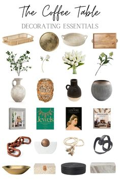 6 coffee table decor essentials and how to style them like a pro to make your living room feel purposeful and beautiful. Coffee Table Vignettes, Decorating Coffee Tables, Coffee Table Books, Decorative Items, Decorative Bowls, Affordable Home Decor, Wooden Bowls, Fake Flowers, Home Decor Items