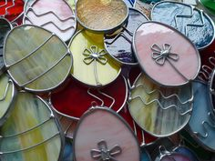 Stained Glass Easter Eggs by BlueFishStudios on Etsy