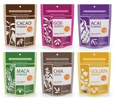 I get all of my superfoods from Navitas Naturals - I love their chia, hemp, flax, cacao, goji, acai, maca, maqui, camu, lucuma, wheatgrass powder, and more. You can find the whole range here: http://navitasnaturals.com/