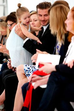 David Beckham & Harper Steal The Spotlight At Victoria's NYFW Show