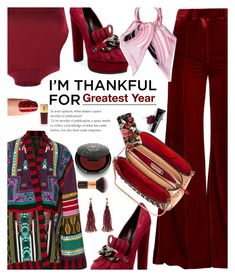"""Greatest Year"" by kristina-susanto ❤ liked on Polyvore featuring Racil, Pilot, Etro, Casadei, Christian Louboutin, iDeal of Sweden, Viktor & Rolf, Rituel de Fille, Inglot and Yves Saint Laurent"