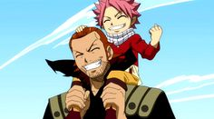 Image result for fairy tail natsu and gildarts