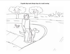 assistance dogs coloring pages - photo#16