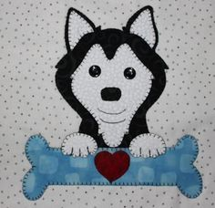 Dogs and Bones Quilt Applique Patterns, Applique Quilts, Applique Designs, Quilt Patterns, Quilting Templates, Quilting Projects, Quilting Designs, Sewing Projects, Owl Quilts