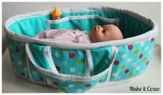 Make it Cozee: Tutorial: Baby Doll Bed *Fun Gift Idea - Use as a Gift Basket for any occasion Ex: Easter Basket