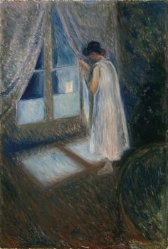 "Edvard Munch, ""The Girl by the Wind"""