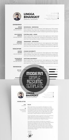 Modern CV/Resume Template #cvresume #resumetemplate #minimalresume #psdresume #psdtemplates