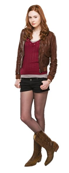 Designer Clothes, Shoes & Bags for Women Tv Show Outfits, Outfits For Teens, Amy Pond Outfit, Karen Gillan Doctor Who, Doctor Who Amy Pond, Pretty Redhead, Doctor Who Companions, David Tennant Doctor Who, Rory Williams
