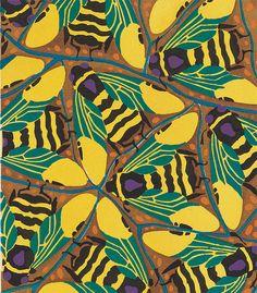 Art Deco Eugene Seguy Bumblebee Bee Insects ceramic tile trivet kitchen bathroom walls splash backs fireplace tile plant stands Pattern Illustration, Art And Illustration, Illustrations, Textile Prints, Textile Patterns, Print Patterns, Surface Pattern, Pattern Art, Surface Design