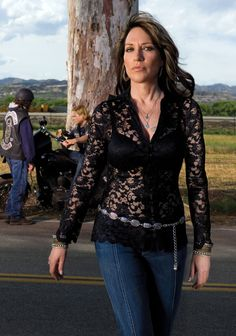 Katey Sagal Sons of Anarchy Hairstyles Modeled by Women over 45 by Women over 45 and Hairstyles for Women over 50 modeled by Women over 50.  We have a whole section of our blog with Hairstyles for women over 45 Visit: http://stillblondeafteralltheseyears.com/category/hairstyles-for-women-over-45/