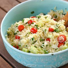 Caprese Orzo Salad ~ The Way to His Heart (use whole wheat orzo and LOTS of veggies)