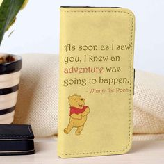 Pooh Quotes | Disney | Winnie The Pooh | custom wallet case for iphone 4/4s 5 5s 5c 6 6plus case and samsung galaxy s3 s4 s5 s6 case - RSBLVD