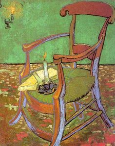 Van Gogh, Gauguin's Chair with Books and Candle, 1888, Fondazione Van Gogh, Rijk