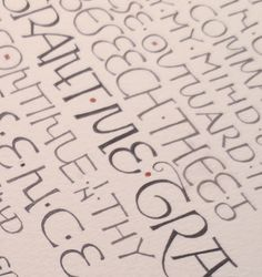 Georgia Angelopoulos. Hand lettering with metal pen and brush for a commission. Inspired by the letters of David Jones