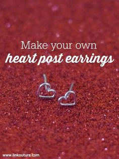 These diy heart post earrings are a fun jewelry making crafts project for Valentine's Day and are easy to make. They also make great gifts for your sister, friend or daughter, or a special treat for yourself! (scheduled via http://www.tailwindapp.com?utm_source=pinterest&utm_medium=twpin&utm_content=post840203&utm_campaign=scheduler_attribution)