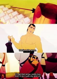 Mulan :) Hahaha love this movie!  I totally said the last line in his voice, too!