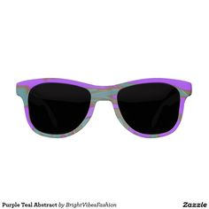 Purple Teal Abstract Sunglasses