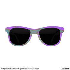 Purple Teal Abstract Sunglasses