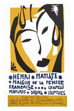 1950s Matisse Exhibition in Paris Poster