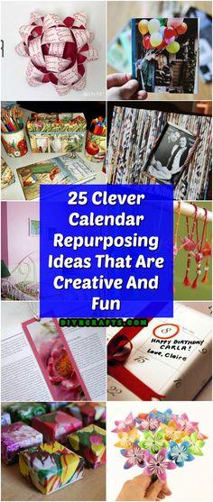 25 Clever Calendar Repurposing Ideas That Are Creative And Fun via @vanessacrafting