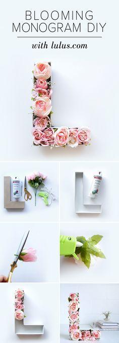letras rellenas de flores (de chapa o carton)