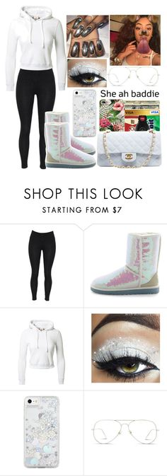 """"""""""" by officially-mya ❤ liked on Polyvore featuring UGG Australia, Vetements, Skinnydip and GlassesUSA"""