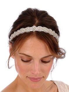 Love this on etsy -CARLY Headband -  bridal, rhinestone, crystal, veil, wedding, tiara, head piece, Swarovski