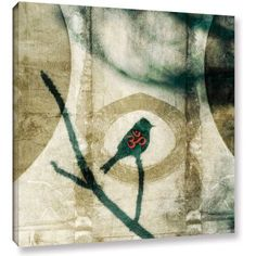 Elena Ray Yoga Bird 2 inch Gallery-Wrapped Canvas, Size: 24 x 24, White