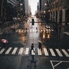 I adore street photography, rainy days and the contrast of the charcoal streets with the warm glow of streetlights Urban Photography, Street Photography, Travel Photography, Seattle Photography, New York Photography, Photography Courses, Photography Equipment, Abstract Photography, Photography Business