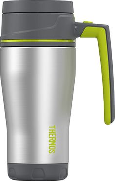 Element5® 16 oz Travel Mug Charcoal with Lime | Thermos®