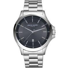 Ανδρικό ρολόι Pierre Cardin από ανοξείδωτο ατσάλι με μαύρο καντράν και μπρασελέ. Pierre Cardin, Smart Watch, Watches, Stylish, Jewelry, Smartwatch, Jewlery, Wristwatches, Jewerly