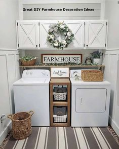 Below are the Farmhouse Laundry Room Storage Decoration Ideas. This post about Farmhouse Laundry Room Storage Decoration Ideas was posted … Small Laundry Rooms, Laundry Room Organization, Laundry Room Design, Laundry Decor, Organization Ideas For The Home, Storage Organization, Decorate Laundry Rooms, Laundry Area, Organized Laundry Rooms
