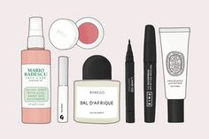 21 Makeup & Skincare Products You Need to Try out This Spring - iristrations beauty illustration glossier boy brow mario badescu rms beauty diptyque - Homemade Skin Care, Diy Skin Care, Meninas Comic Art, Beauty Skin, Beauty Makeup, Makeup Illustration, Beauty Illustrations, Japanese Illustration, Healthy Skin Care