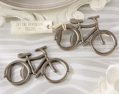 Kate Aspen Let's Go On An Adventure Bicycle Bottle Opener Best Offer. Best price Kate Aspen Let's Go On An Adventure Bicycle Bottle Opener. Made of metal with a pewter wrap up. Accompanies a texture tag. Grommet in bike wheel goes about Wedding Favors And Gifts, Creative Wedding Favors, Inexpensive Wedding Favors, Beach Wedding Favors, Wedding Wishes, Wedding Cake, Wedding Tokens, Wedding Souvenir, Unique Baby Shower Favors