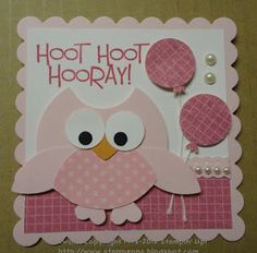 Stampin' & Scrappin' with Stasia: Hoot, Hoot Hooray! Imagine this…but with a vieled owl with eyelashes! :) For a wedding shower invite!