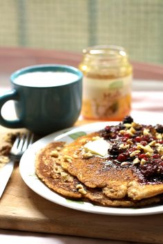 Muesli-Pancakes with Honeyed Berries