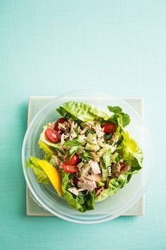 Brilliant for beating hunger pangs, our tuna vitality salad from Issue 4 is a great lunch option.